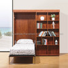 GS5012 Wanbian melamine wall bed sets with sliding bookcases library bed vertical murphy bed hidden bed