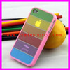 High Quality Rainbow Case/mobile phone case/phone cover/phone shell for iphone 4/4s