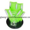 6 pcs ceramic knife acrylic block set with peeler