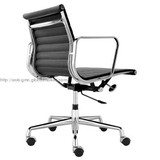 Eames aluminium leather office chair thin pad with swivel function