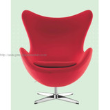 High quality egg chair with wool, leather is available