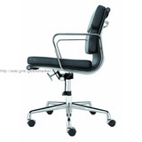 Eames aluminium leather office chair soft pad with swivel function