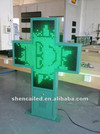 LED cross display/led pharmacy display screen/ led advertisement display board