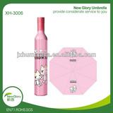 wine bottle pink umbrella/unique handle umbrella/coloring pictures umbrella