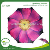 Tulip Shape Pollyester Wooden Shaft Promotion Umbrella