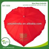 Wedding straight umbrella for couple/special red color umbrella