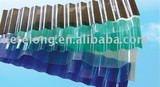 Polycarbonate transparent corrugated sheet