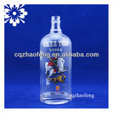 700ml Clear Decal Screw Cap Vodka Glass Bottle
