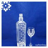 700ml Swing Top Cap Whisky Glass Bottle High Crystal Decorative European popular Glass Spirits Bottle Supplier