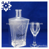 500ml Transparent Good Luck High Quality Hot Sale Popular Whiskey Wine Glass Bottle in stock