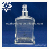 700ml Clear And Beautiful Decal Middle Grade Sized Wine Glass Bottle With Screw Cap