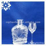 750ml Unique Design Transparent Straight whiskey Crystal Glass Bottles