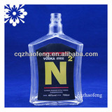 700ml empty clear decal classic Russian style vodka glass bottles
