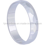 Faceted Tungsten Ring