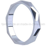 Woman's Faceted Tungsten Carbide Ring
