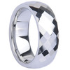 Polished Tungsten Jewelry with Stepped-Down Edges and Square Facets