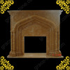 Carved Marble Fireplace (GS-FF-030)