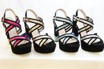 Women Shoes Fashion Crystal PU High Heel Sandals (RY1098-75)