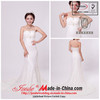 Sheath Strapless Lace Wedding Dress with Beading (A25)