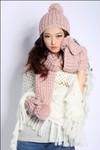100% Acrylic Knit Scarf Knitted Shawl Fashion Accessory