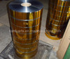 Metallic PVC film with boarder/stripe for tinsel production