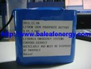 6.4V/9.6V3Ah lithium ion phosphate battery pack