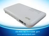 4 SIM Channel VoIP GSM Gateway Built-in Aantenna Support SMS Server