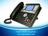 VoIP Phone with 3 SIP Line & 1 Iax2 Line