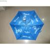 "19""*6k five folds manual open flat shape umbrella"
