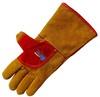 Warm Winter Leather Safety Aramid Fiber Work Gloves Welding Gloves (BGCW306WFK)