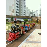 amusement park vintage 14kids track train/kiddy rides