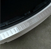 YUNC car Rear trunk streamer stainless steel wiredrawing Door Sill protection for BMW new 3,5 series car modified parts
