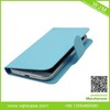 blue leather cover galaxy s4 pu phone covers