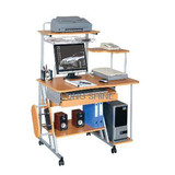 MULTI-functional computer Desk with top shelf