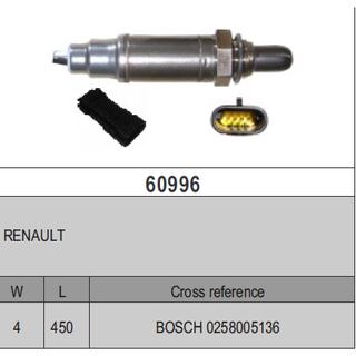 Sondes lambda Auto, moto - pièces, accessoires Sonde Lambda Renault 0258005136