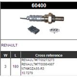 3 Wires O2 Oxygen Sensor Lambda Sensor NTK#OZA55-R3