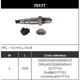 O2 Sensor Oxygen Sensor Lambda Sensor Sonda Sensor BOSCH 0258006588/0258986615