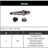 O2 Sensor Oxygen Sensor Lambda Sensor Sonda Sensor BOSCH 0258006378/24402859