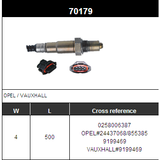 O2 Sensor Oxygen Sensor Lambda Sensor Sonda Sensor BOSCH 0258006387
