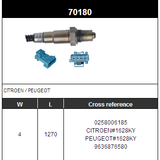 O2 Sensor Oxygen Sensor Lambda Sensor Sonda Sensor BOSCH 0258006185