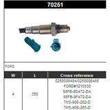 O2 Sensor Oxygen Sensor Lambda Sensor Sonda Sensor BOSCH 0258006484/0258006485
