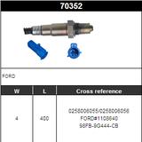O2 Sensor Oxygen Sensor Lambda Sensor Sonda Sensor BOSCH 0258006055/0258006056
