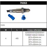 O2 Sensor Oxygen Sensor Lambda Sensor Sonda Sensor BOSCH 0258006450/0258006451