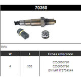 O2 Sensor Oxygen Sensor Lambda Sensor Sonda Sensor BOSCH 0258006790/0258006796