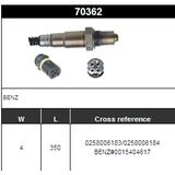 O2 Sensor Oxygen Sensor Lambda Sensor Sonda Sensor BOSCH 0258006183/0258006184