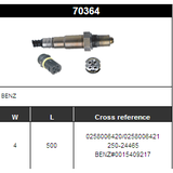 O2 Sensor Oxygen Sensor Lambda Sensor Sonda Sensor BOSCH 0258006420/0258006421/250-24465