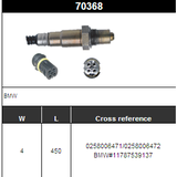 O2 Sensor Oxygen Sensor Lambda Sensor Sonda Sensor BOSCH 0258006471/0258006472