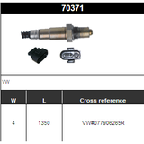 O2 Sensor Oxygen Sensor Lambda Sensor Sonda Sensor VW#077906265R