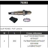 O2 Sensor Oxygen Sensor Lambda Sensor Sonda Sensor 46760865/46764207/60816696
