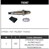 O2 Sensor Oxygen Sensor Lambda Sensor Sonda Sensor 55194237/1176912800/84344